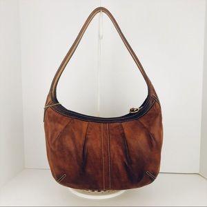 🎁🎄Coach Distressed Leather Pleated Ergo Hobo Bag